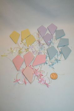 Midwest Importers Cannon Falls Easter Ornaments Kites Kite lot of 14