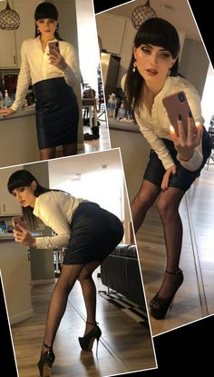 Wearing high heels for the first time ever! : crossdressing