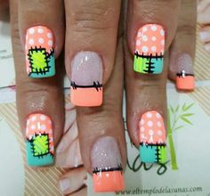 Nails Crazy Nail Art, Crazy Nails, Pretty Nail Art, Cute Nail Art, Fancy Nails, Nail Art Diy, Diy Nails, Fingernail Designs, Toe Nail Designs