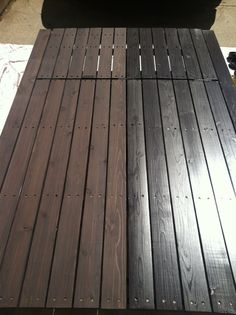 Cabot Deck Stain Semi Solid Bark Mulch Half Stained