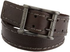 b73824ae16 Buffalo by David Bitton Mens Centerbar Double Prong Casual Jean Belt With  Stitch at Amazon Men's Clothing store: Apparel Belts