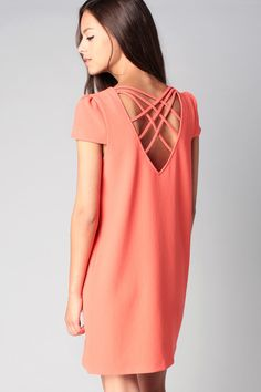 Robe dos croisé Magnolia Corail Clo&Se by MonShowroom en promotion sur MonShowroom.com