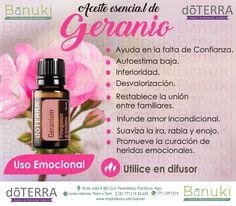 #Geranio #doTERRA El Aceite esencial ayuda en la #falta de confianza…