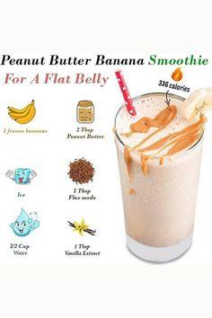 Weight Loss Drinks, Weight Loss Meal Plan, Weight Loss Smoothies, Healthy Weight Loss, Easy Smoothie Recipes, Easy Smoothies, Protein Smoothies, Courge Spaghetti, Peanut Butter Banana