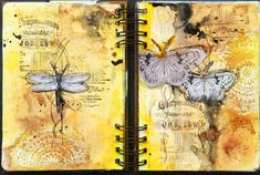 Finnabair Feature-art journal page by Solange Marques!