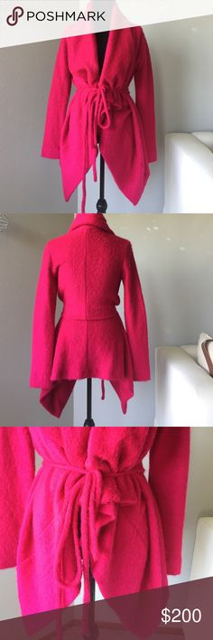 Cerise pink mohair jacket Beautiful pink mohair piece by the ultra cool Isabel del Pedro. Full volume panels at the front. Many ways to style and adjust with the straps Isabel del Pedro Jackets & Coats