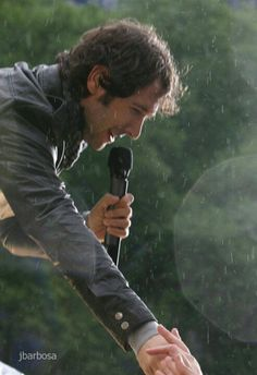 Josh Groban. Remember when it rained? Lol