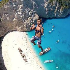Base Jumping in Zakynthos, Greece Gopro, Zakynthos Greece, Base Jumping, Crazy Friends, Extreme Sports, Winter Travel, Wanderlust Travel, Graphic, Illustration