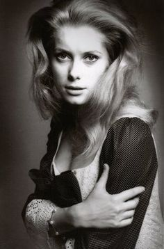 Portrait of Catherine Deneuve by Jeanloup Sieff, 1965 Catherine Deneuve, Jean Loup Sieff, Eleonore Bridge, Ali Macgraw, Charlotte Rampling, Actrices Hollywood, French Photographers, Celebrity Portraits, French Actress