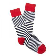 Men's Fashion | White Label Sailor Stripe Socks, Steven Alan