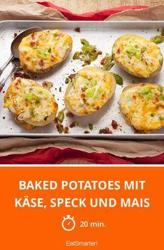 Baked Potatoes mit Käse, Speck und Mais - smarter - Zeit: 20 Min.   eatsmarter.de