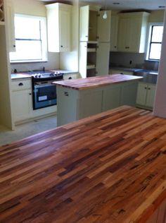 1 1 2 x 25 x12 lft maple butcher block countertop for Builder oak countertop