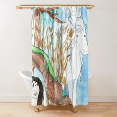 Meeting in the Mist Shower Curtain Mixed Media Photography, High Quality T Shirts, Media Design, Shower Curtains, Sell Your Art, Art Drawings, Geek Stuff, Artwork, Prints