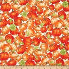 Harvest Bounty Packed Pumpkins Ecru