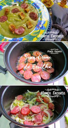 Como preparar Sopa de Ervilha, com fotos passo a passo.