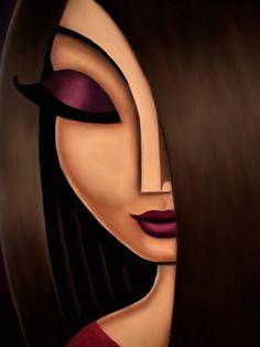 Fun, cute portrait art oil paintings of women. Abstract Face Art, Urbane Kunst, Arte Pop, Portrait Art, Female Portrait, Art Oil, Female Art, Art Pictures, Modern Art