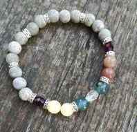 Bracelet en Agates Naturelles et perles semi-précieuses variées Création artisanale pour Divines&Rock Agates, Rock, Creations, Beaded Bracelets, Jewelry, Art Crafts, Beads, Jewlery, Jewerly