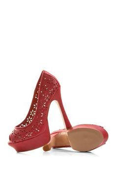 Super Cute Coral Peep Toe Pumps!!!
