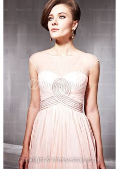princess-bateau-floor-length-chiffon-dress