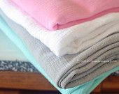 PACK OF THREE Large Gauze Swaddle Blanket for Baby (muslin swaddle blanket)