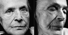 Portraits - Klara Behrens, age 83 - Life Before Death - These photos of people before and after death are strangely fascinating. Very sad, yet beautiful...and gives so much food for thought. http://www.wellcomecollection.org/whats-on/exhibitions/life-before-death/portraits.aspx?view=klara-behrens