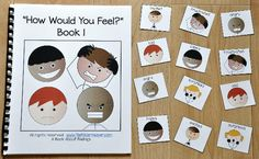 "This Emotions Adapted Book, ""How Would You Feel?"" 1, focuses on identifying feelings and emotions in a given situation. This book focuses on the emotions/feelings: happy, sad, angry, excited, frustrated and surprised. In this activity, the teacher or therapist reads the book to a small group of students, as students follow along and identify which emotion they might feel in a given situation. Sample Text: ""Feelings are honest and feelings are real. In each situation, how would you feel?"
