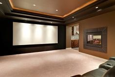 A home theater system may be a simple TV with speakers or as elaborate as a dedicated room with top-of-the-line components.(Photo courtesy of Angie's List member Rajinder S.)