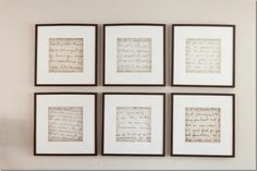 cottage and vine: Client Inspiration - DIY Art.  Old letters enlarged and parts of them framed.  Love this.