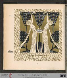 September, Ver Sacrum magazine, Volumn 4, 1901. Art nouveau.