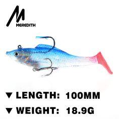 Meredith 4pcs 18.9g 100mm Soft Lead Fish Fishing Lures Bait Luminous Sea Fishing Tackle Fishing Soft Bait Bass Hook JXJ01-10 #Affiliate