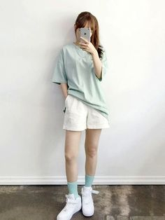Daily Fashion- Popular T-shirts for this summer 2016 . -Korean Daily Fashion- Popular T-shirts for this summer 2016 . Korean Fashion Summer, Korean Girl Fashion, Korean Fashion Trends, Summer Fashion Trends, Tomboy Fashion, Teen Fashion Outfits, Trendy Fashion, Fashion Fall, Fashion Clothes