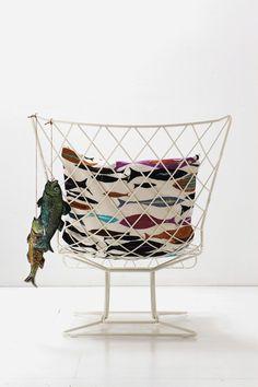 Garden #armchair high-back INOUT 109 by Gervasoni | #design Paola Navone #white @gervasoni1882