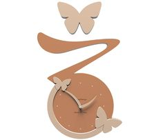 Wanduhr Butterfly - orange - Callea