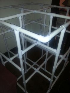Indoor jungle gym now reinforced so the big kids can climb. Just waiting for paint!
