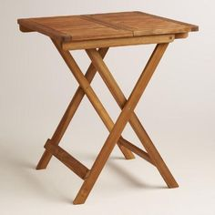 One of my favorite discoveries at WorldMarket.com: Wood Cameron Square Folding Table