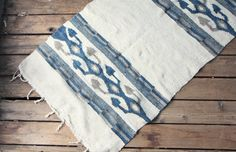 Vintage Southwestern Woven Cotton and Wool Rug / by ethanollie