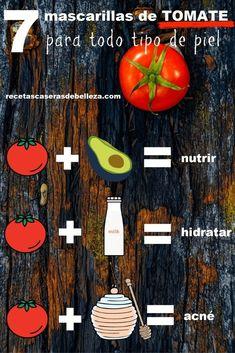 Homemade Tomato Face Masks via Natural Beauty Tips, Diy Beauty, Tomato Face Mask, Avocado Mask, Facial Tips, Mask For Oily Skin, Homemade Moisturizer, How To Exfoliate Skin, Flaky Skin