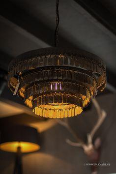 Parvani| Hoffz, hanglamp, Gudha, kroonluchter, schijfjes, vierkant, rond, plafonniere.