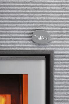 Tulikivi Hiisi 2 has a beautiful wavy finish.