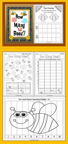 This Math unit has a bee theme. Your students will have fun counting bees. (PreK-1)