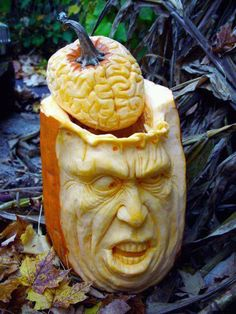 {Scary Pumpkin Carving}  #halloween #jackolantern