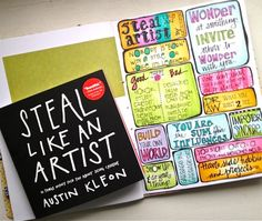 Great things to remember when creating art! Would be great for teachers to have up in the classroom too!