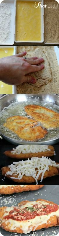 How to bread and fry chicken, perfect for this chicken parmesan recipe!
