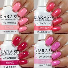 Kiara Sky Gel Polish Swatches - Pink & Coral