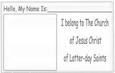 Lesson 42: I Belong to The Church of Jesus Christ of Latter-day Saints