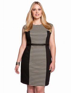 Stripe Colorblock Dress, love this