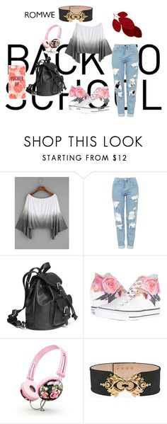 """""""Romwe"""" by ermina-camdzic ❤ liked on Polyvore featuring Topshop, Converse, Balmain and Kate Spade"""