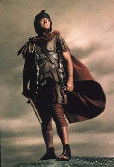"""John Wayne as Roman centurion at the crucifixion of Christ in The Greatest Story Ever Told (1965) His one line: """"truly this man was the son of God."""""""