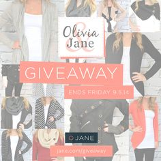 { GIVEAWAY TIME } We have another awesome giveaway this week, hosted by Olivia & Jane. $375 in prizes!! Giveaway ends Friday so enter here now for your chance to win! http://vryjn.it/olivia-jane-pin  1st prize - $150 gift card 2nd prize - $100 gift card 3rd prize - $75 gift card 4th prize - $50 gift card
