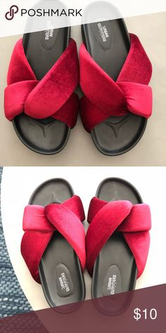 114ee14d7a39 NWOT Urban Outfitters Velour Slides